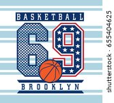 vintage basketball graphic with ...   Shutterstock .eps vector #655404625