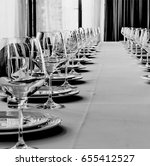 black and white photo. banquet... | Shutterstock . vector #655412527