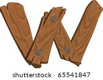 Wooden Alphabet   Letter W On...