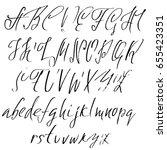 hand drawn elegant calligraphy...   Shutterstock .eps vector #655423351