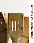 old wooden spoons and stirrers  | Shutterstock . vector #655428625
