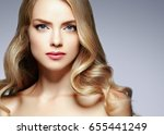 amazing woman blond. beautiful... | Shutterstock . vector #655441249
