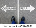 courage and fear risk safety... | Shutterstock . vector #655442851