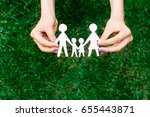 happy family of four people | Shutterstock . vector #655443871
