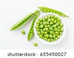 Green Peas.top View.