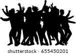 dancing people silhouettes. | Shutterstock .eps vector #655450201