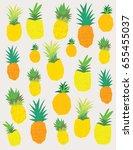 pineapple print design for the... | Shutterstock .eps vector #655455037