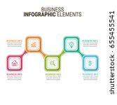 modern infographic process... | Shutterstock .eps vector #655455541