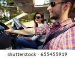car trip  | Shutterstock . vector #655455919