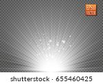 magic light vector effect. glow ...   Shutterstock .eps vector #655460425
