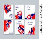 slovakia patriotic cards for...   Shutterstock .eps vector #655463635