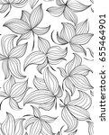 floral vector seamless pattern... | Shutterstock .eps vector #655464901