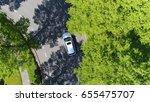 aerial following car top down... | Shutterstock . vector #655475707