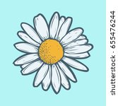 chamomile  camomile flower... | Shutterstock .eps vector #655476244