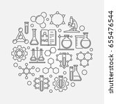 chemistry lab round... | Shutterstock .eps vector #655476544