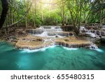 huay mae kamin waterfall ...   Shutterstock . vector #655480315