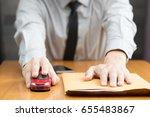 filing for car loan | Shutterstock . vector #655483867