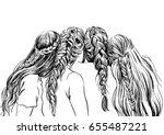 illustration of girls with... | Shutterstock .eps vector #655487221