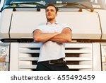 portrait of young muscular man... | Shutterstock . vector #655492459