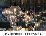 luxury beautiful retro edison...   Shutterstock . vector #655493941