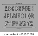 hand drawn label font for... | Shutterstock .eps vector #655501339
