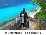 scuba diver on the way to the... | Shutterstock . vector #655508041