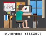 freelance graphic designer... | Shutterstock .eps vector #655510579