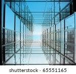 modern office building seen... | Shutterstock . vector #65551165