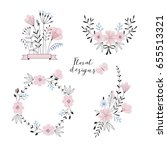 floral pre made compositions... | Shutterstock .eps vector #655513321