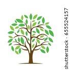 abstract trees vector logo | Shutterstock .eps vector #655524157