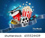 cinema movie theater object on... | Shutterstock .eps vector #655524439