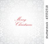 christmas card with snowflake... | Shutterstock .eps vector #65552518