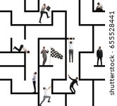 business game of maze | Shutterstock . vector #655528441