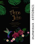 wedding invitation design with... | Shutterstock .eps vector #655528621