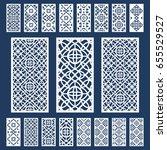 ornamental panels template set... | Shutterstock .eps vector #655529527