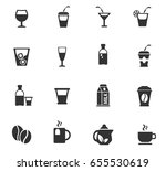 drinks web icons for user... | Shutterstock .eps vector #655530619