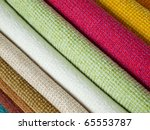 many examples of colored cotton ...   Shutterstock . vector #65553787