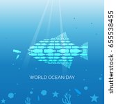 world ocean day campaign poster | Shutterstock .eps vector #655538455