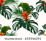 beautiful seamless vector... | Shutterstock .eps vector #655546291