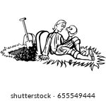 hamlet looks at a skull | Shutterstock .eps vector #655549444