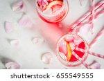 summer refreshment drinks....   Shutterstock . vector #655549555