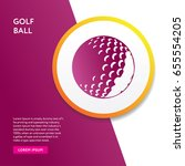 golf icon flat isolated info... | Shutterstock .eps vector #655554205
