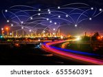 global partner connection of ... | Shutterstock . vector #655560391