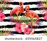 beautiful seamless vector... | Shutterstock .eps vector #655565827