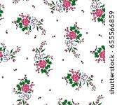 vector illustration of flowers... | Shutterstock .eps vector #655566859
