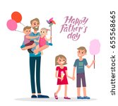 cartoon characters of family.... | Shutterstock .eps vector #655568665