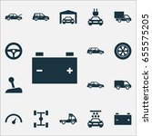 automobile icons set.... | Shutterstock .eps vector #655575205