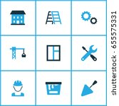 building colorful icons set.... | Shutterstock .eps vector #655575331