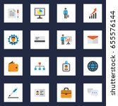 trade flat icons set.... | Shutterstock .eps vector #655576144