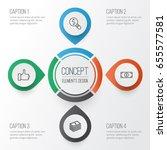 e commerce icons set.... | Shutterstock .eps vector #655577581